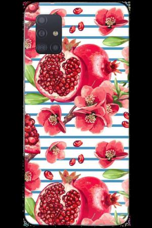 Pomegranate on stripes