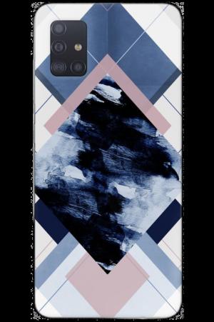 Rhombus dark blue marble