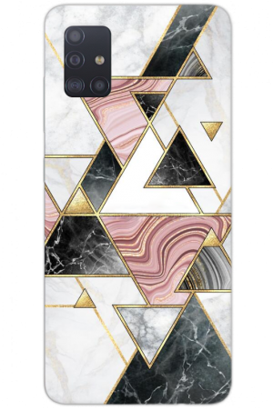 Triangle black pink marble