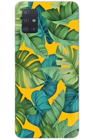 tropical green yellow leaves
